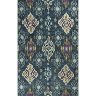 Lager Head Allover Blue Ikat Area Rug Rug Size: 23 x 39