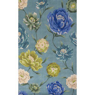 Las Cazuela Blue Floral Area Rug Rug Size: Rectangle 5 x 8