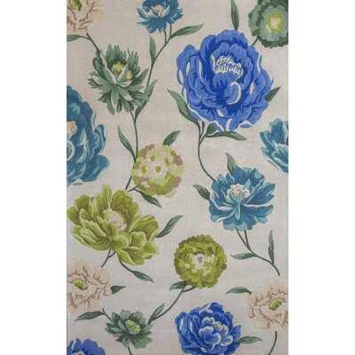 Las Cazuela Ivory Floral Area Rug Rug Size: Rectangle 79 x 106