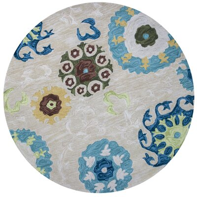 Lager Head Sand Courtney Area Rug Rug Size: Round 56