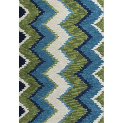 Lager Head Blue/Green Chevron Area Rug Rug Size: 23 x 39