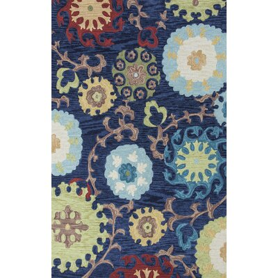 Lager Head Navy Courtney Area Rug Rug Size: Round 56