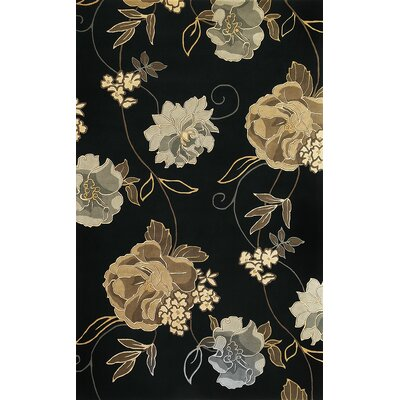 Las Cazuela Black Paradise Area Rug Rug Size: Rectangle 5 x 8
