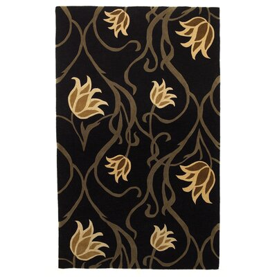 Lincolnville Tulip Midnight Rug Rug Size: Rectangle 86 x 116