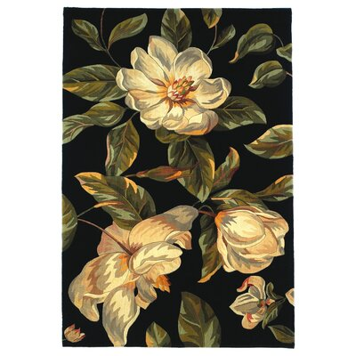 Las Cazuela Black Magnolia Area Rug Rug Size: Rectangle 79 x 106