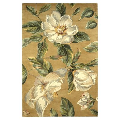 Las Cazuela Gold Magnolia Area Rug Rug Size: Rectangle 26 x 42