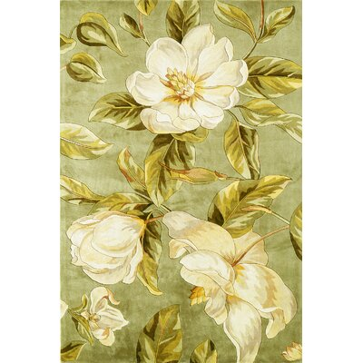Las Cazuela Sage Magnolia Area Rug Rug Size: Rectangle 33 x 53