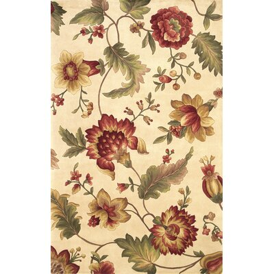 Las Cazuela Ivory Mums Rug Rug Size: Rectangle 5 x 8