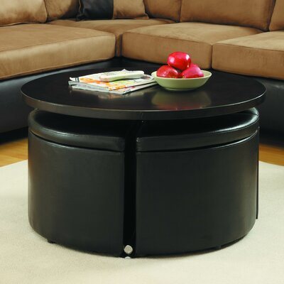 Dempsey Gas Lift Coffee Table with Ottomans