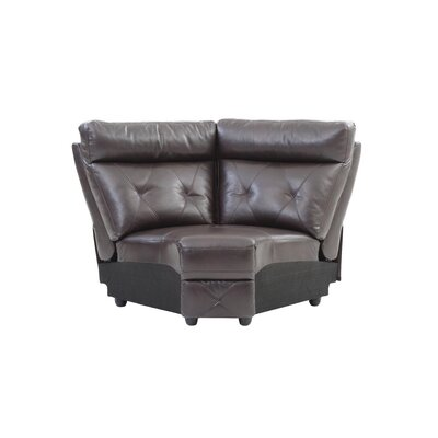 Mcgarity Modular Wedge Upholstery: Dark Brown