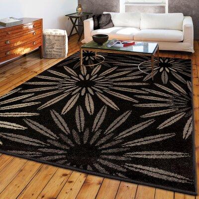 Falmer Black Area Rug Rug Size: 710 x 1010