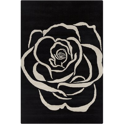 Willow Hand Tufted Wool Black/White Area Rug