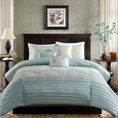 Southbury 6 Piece Duvet Cover Set Size: Full / Queen, Color: Aqua