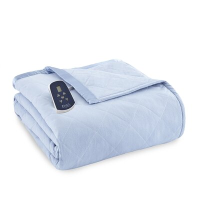 National 3 Piece Heated Comforter Blanket Size: Twin, Color: Wedgewood