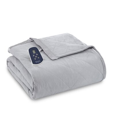 National 3 Piece Heated Comforter Blanket Size: Twin, Color: Graystone