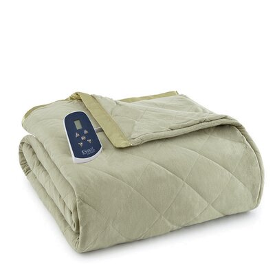 National 3 Piece Heated Comforter Blanket Color: Meadow, Size: Queen