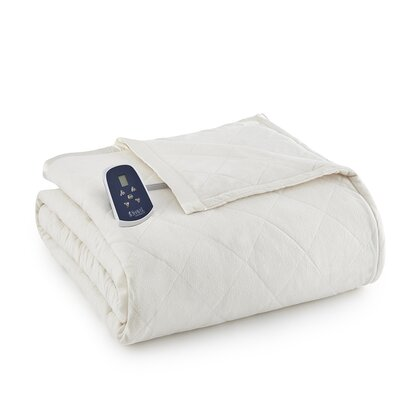 National 3 Piece Heated Comforter Blanket Color: Ivory, Size: Queen