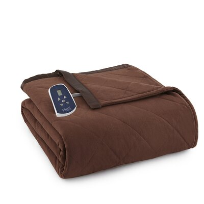 National 3 Piece Heated Comforter Blanket Color: Chocolate, Size: Queen
