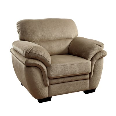 Dobson Transitional Armchair Upholstery: Light Brown