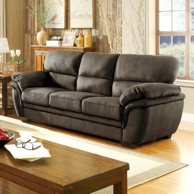 Dobson Transitional Sofa Upholstery: Dark Brown