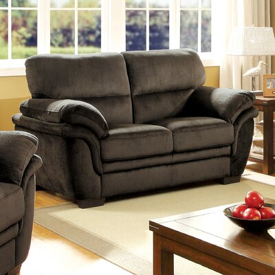 Dobson Transitional Loveseat Upholstery: Dark Brown