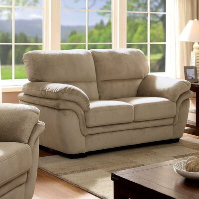 Dobson Transitional Loveseat Upholstery: Light Brown