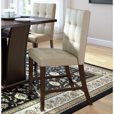 Duluth Counter Height Side Chair Upholstery: Beige