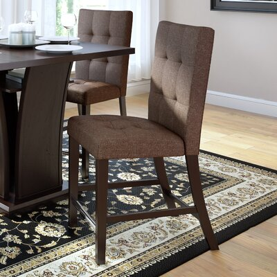 Grayslake Upholstered Counter Height  Dining Chair Upholstery: Brown