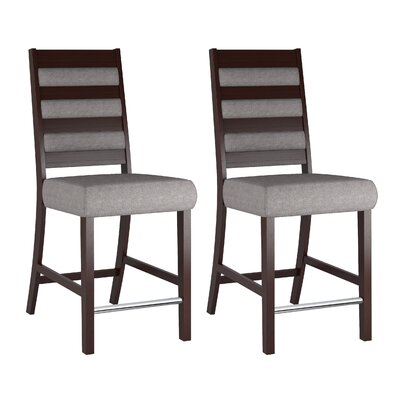 Grayslake Solid Back Dining Chair Upholstery: Gray