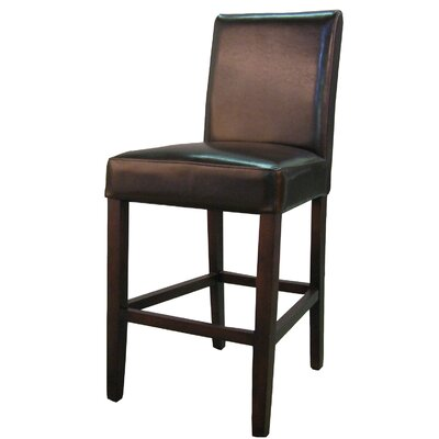 Torkelson 25 Bar Stool Upholstery: Brown