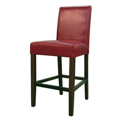Torkelson 25 Bar Stool Upholstery: Red