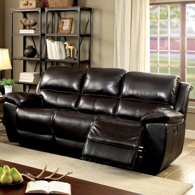 Erie Leather Sofa Type: Manual