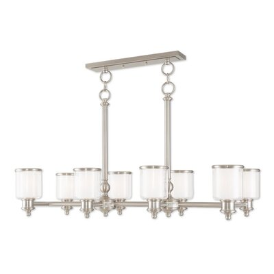 Lisle 8-Light Kitchen Island Pendant Finish: Brushed Nickel
