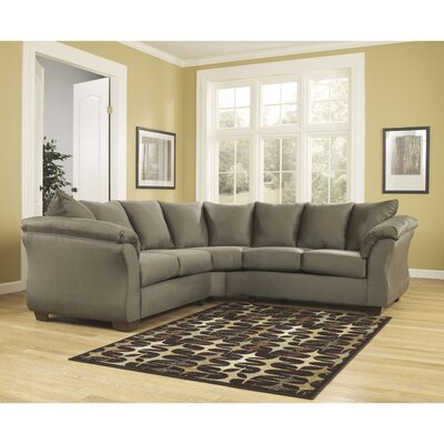 Chisolm Yards Sectional Upholstery: Sage