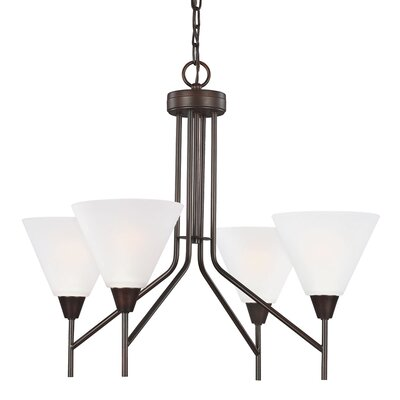 Isidore 4-Light Shaded Chandelier Finish: Burnt Sienna