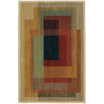 Timmons Illusion Brown/Red Area Rug Rug Size: 8 x 10