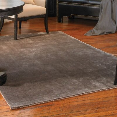 Campos Hand-Woven Charcoal Brown Area Rug