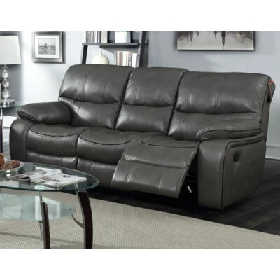 Red Barrel Studio RDBS9347 Bradley Leather Reclining Sofa
