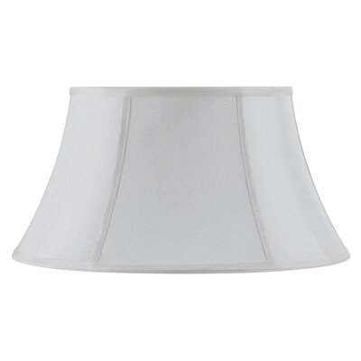 Piped Swing Arm 16 Fabric Bell Lamp Shade Finish: White