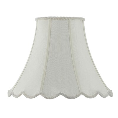 Piped 14 Fabric Bell Lamp Shade Finish: Eggshell