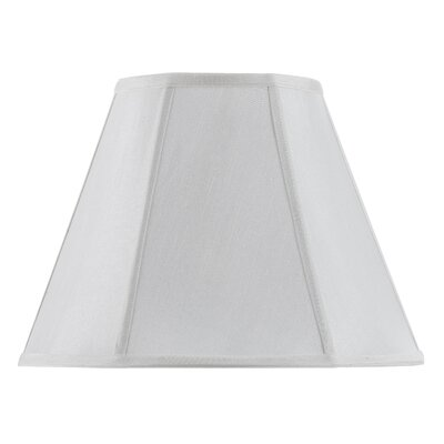 Piped 14 Fabric Empire Lamp Shade Finish: White
