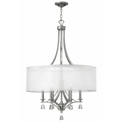 Carlock 6-Light Foyer Pendant Finish: Brushed Nickel