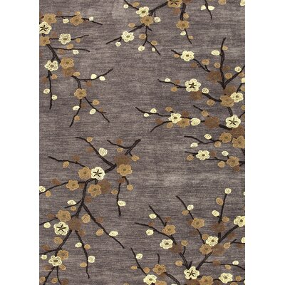 Anselmo Cherry Blossom Hand-Tufted Gray/Yellow Area Rug Rug Size: Rectangle 12 x 9