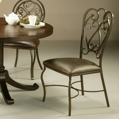 Cafferata Metal Leg Side Chair Finish: Florentine Coffee