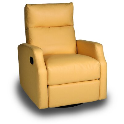 Chestnut Run Chestnut Manual Swivel Recliner Color: Bedford Yellow