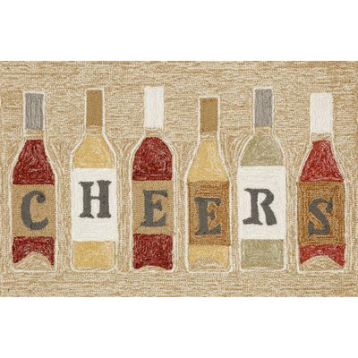 Birchview Cheers Neutral Indoor/Outdoor Area Rug Rug Size: 2 x 3