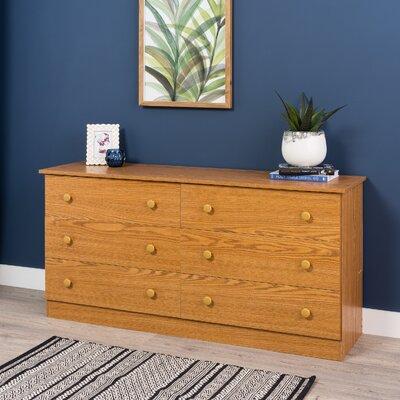 Paducah 6 Drawer Dresser Finish: Oak