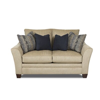 Carruthers Loveseat Upholstery: Brown