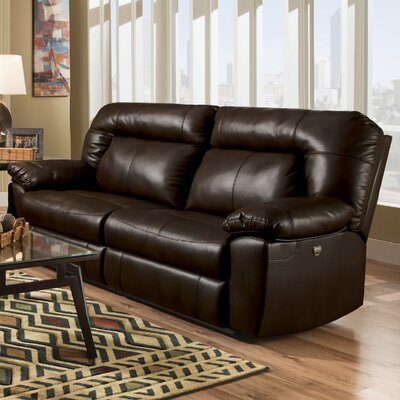 Bolles Dual Reclining Sofa Upholstery: Dark Chocolate