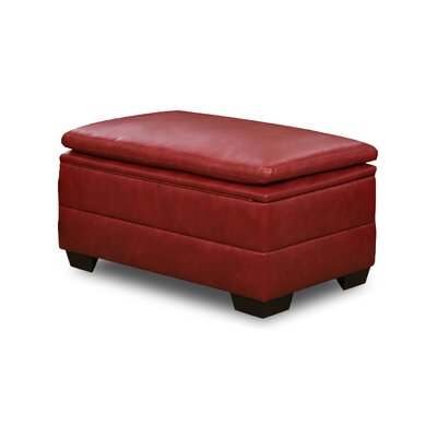 Cates Storage Ottoman Upholstery: Cardinal